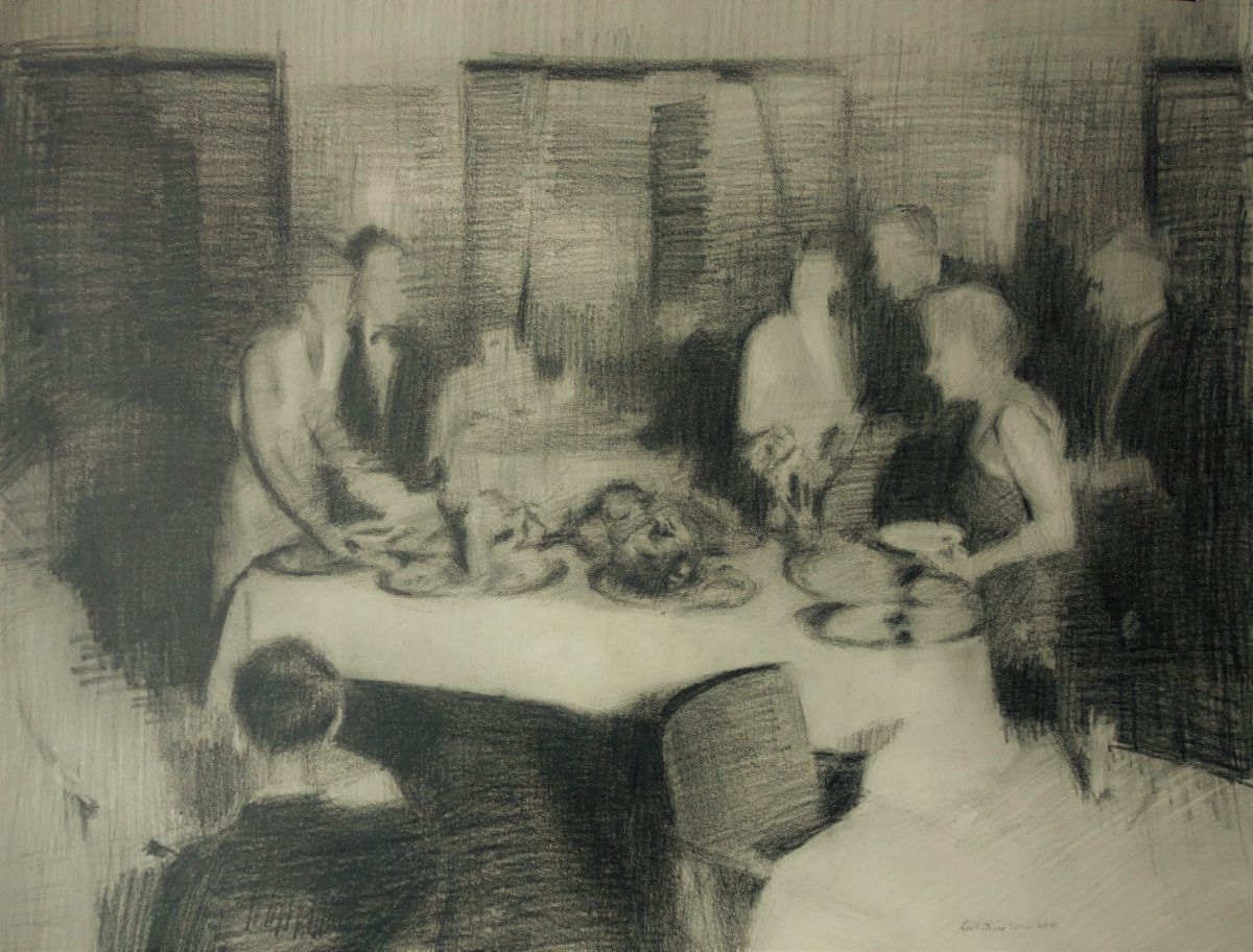 Buffet,  30x40 cm, pencil on paper, 2015