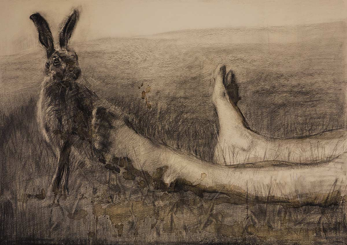 Hunting-season,-50x70-cm,-charcoal,-and-coffee-on-paper,-2015-(HOVEDBILDE-DRAWINGS)