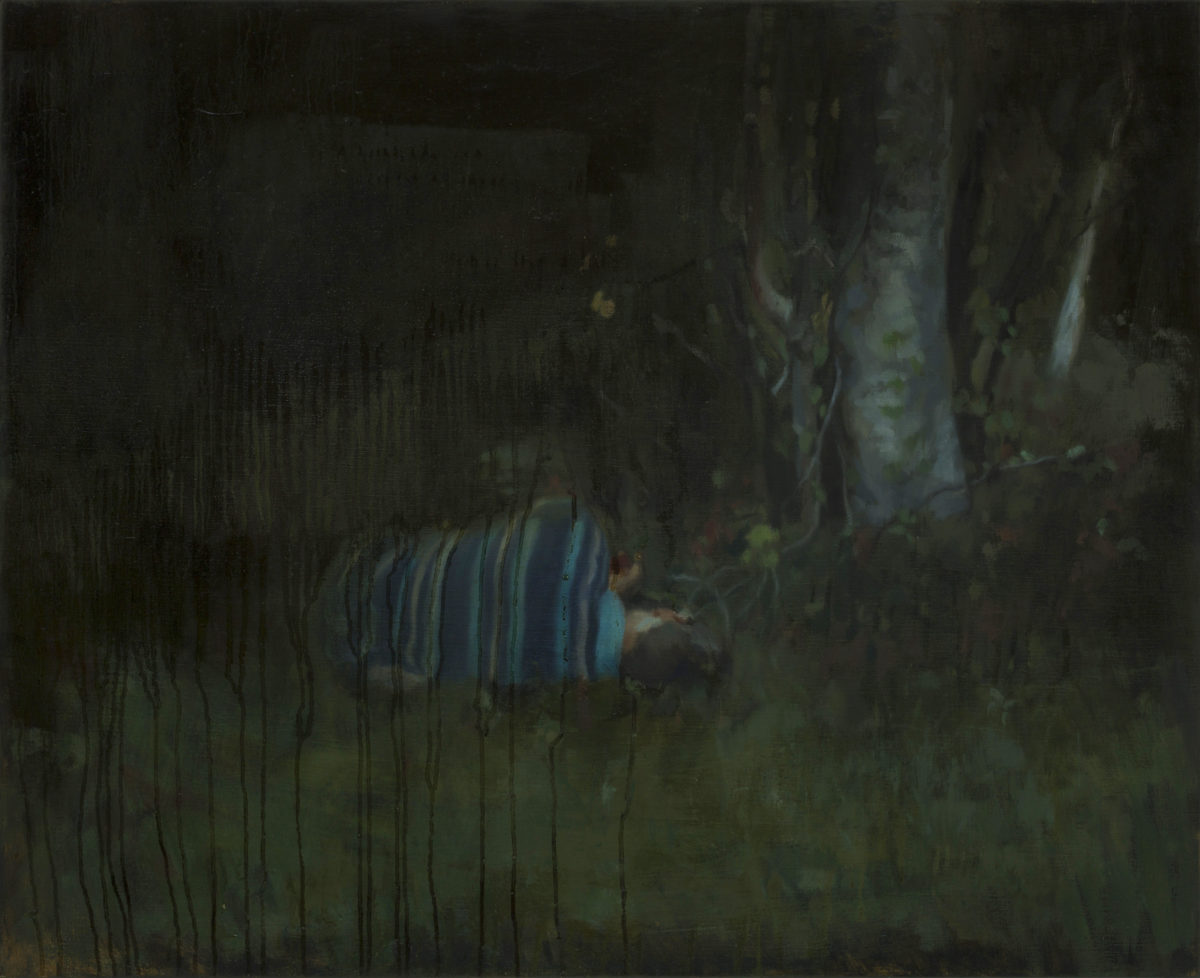 In the green, 73x90 cm, oil on the canvas, 2016
