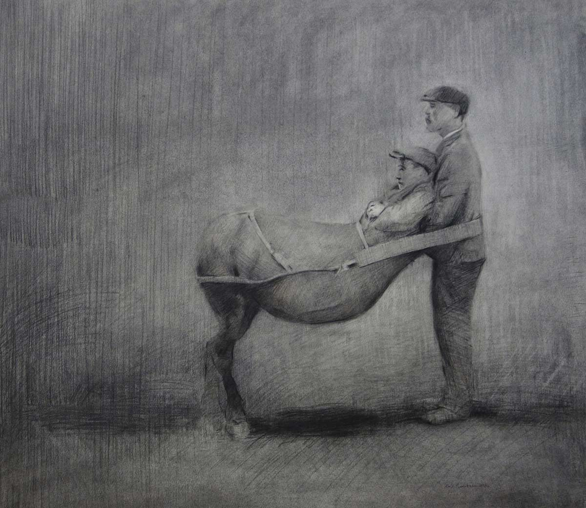 Support,-charcoal-and-colorpencil-on-paper-56x61-cm,-2016
