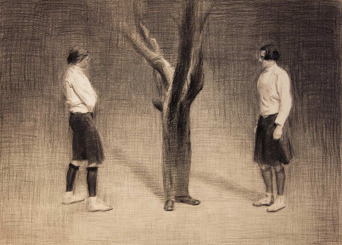 Tree,-50x70-cm,-charcoal-on-paper,-2015